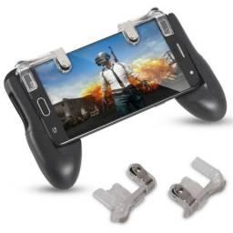 Kit Suporte Gamepad + Gatilho L1 R1 p Free Fire Pubg Celular MBTech Novo + Frete