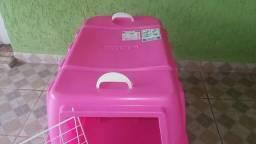 Caixa transportadora pet Rosa Nº 4