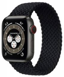 Pulseira Loop Solo Trançada Silicone Apple Watch Se 6 5 4 3 - 44mm