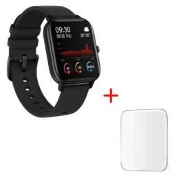 Relógio Smartwatch P8 Troca Foto Notificações + Película