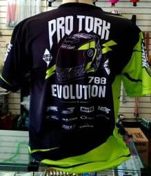 Camisa Estampada Original Protork 100% Poliéster Bike Moto Esporte Tamanho P G acessoriso