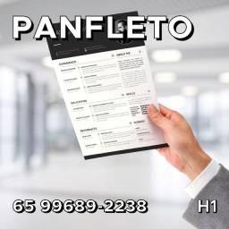 Panfleto 2.500 Unidades - Arte e Entrega Grátis - R$180,00