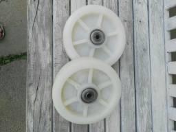 Roda teflon rolamentada