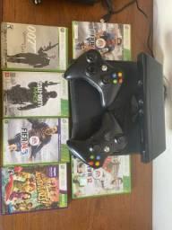 Xbox 360 Slim + Kinect + Jogos originais