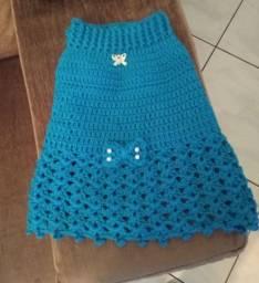 Vestidinho pet de crochê - cor Cancun