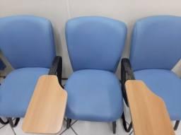 Cadeiras Universitárias 16 Cadeiras em Couro Ecológico Rico Móveis