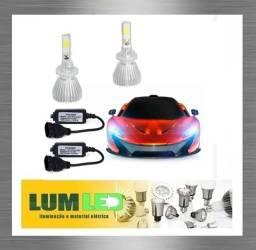Kit LED Automotivo H27 2D 6000K 12-24V Super Branco ? Carro e Caminhao