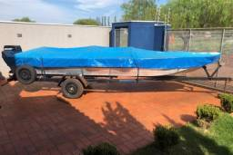 Título do anúncio: conjunto Barco motor, carreta, tudo documentado e em dia.