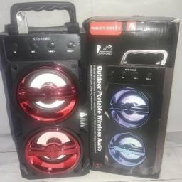 Caixa de som portátil KTS 1036G bluetooth - Entrada p/ microfone