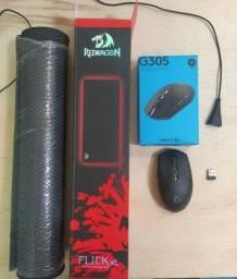 Mouse Logitech G305 + Mousepad Redragon Flick XL