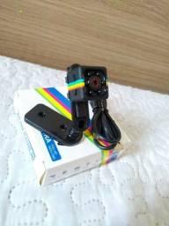 Mini câmera espiã preta