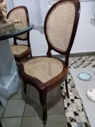 4 cadeiras em jacaranda baiano restaurada e empalhada