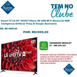 "Título do anúncio: Smart Tv Lg 65"" 65Un7100psa 4K Uhd Wi-Fi Bluetooth Hdr Inteligência Artificial Thinq Ai"