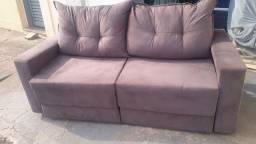 Título do anúncio: sofa retratil sem uso 1.80cm nao reclinável 450.00 sued