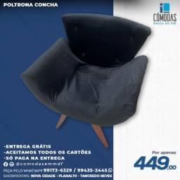 Título do anúncio: Preta -Cadeira veludo Inca na cor Preta