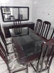 Título do anúncio: Jogo de mesa com 8 cadeiras+ balcão+ espelho