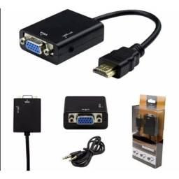 Conversor HDMI pra vga completo grande promoção