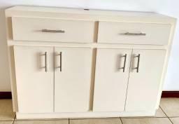 Estante/Rack de madeira branca