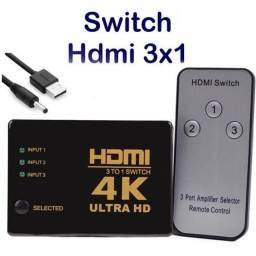Swith HDMI 3 entradas / 1 saída