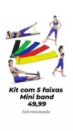 Elásticos para treino funcional, step, corda
