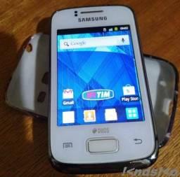Celular Unico Dono Samsung Galaxy Y Young Duos Branco
