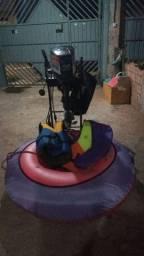 Motor de barco mais kit com boia  e coletes