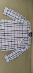 Camisa xadrez e calça infantil