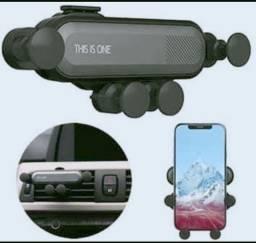 Suporte para Smartphone Celular Veicular na saída de AR do carro