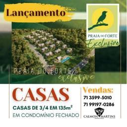 Praia do Forte Exclusive Espetacular, casas com 3/4 em 136 m²