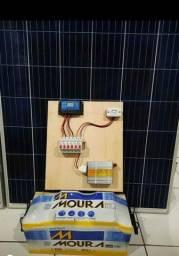 Kit solar sítio ou acampamento.( Pré instalado)