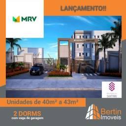 APARTAMENTO A VENDA,BAIRRO CAGUASSU,AREA DE 40M²,2 DORMITORIOS,1 VAGA DE GARAGEM,LAZER COM