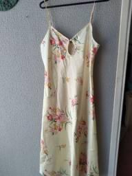 Conjunto de seda de camisola e robe importado