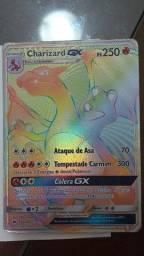 Cartas pokemon tcg ! Charizard Gx Rainbow e Zamazenta V Gold. Copag Original !