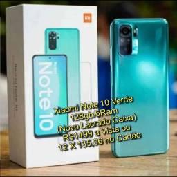 Xiaomi Note 10 Verde 128gb/6Ram Versão Anatel Global