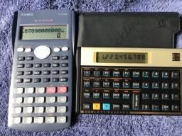 1 Calculadora financeira 12C Gold  + 1 Calculadora Científica Casio FX-82MS