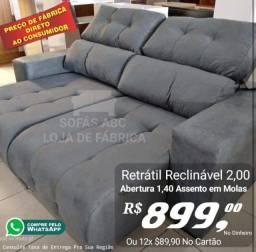 Sofa retratil reclinavel
