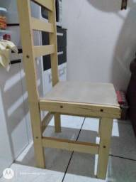 Cadeira, ferro, e mesa de passar