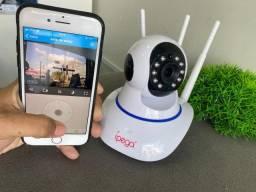 Câmera de Segurança Wifi-Fácil Instalação-(Lojas Wiki)