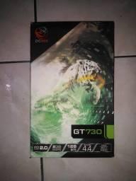 Título do anúncio: Vendo placa de vídeo gt 730 2gb gddr5 pcyes