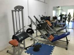 Academia completa equipamentos musculação