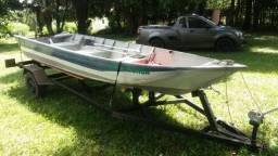 Vendo barco + carreta + motor 15hp - 2017