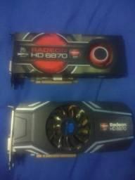 2 placas de vídeo Radeon HD 1GB