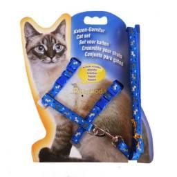 Guia e Peitoral Ajustável para Gatos
