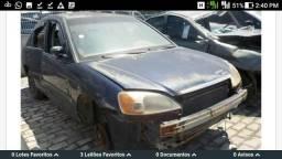 Civic lx 1.7 automático, sucata retirada de peças!!!