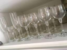 Conjuntos 60 taças cristal legítimo importado completo