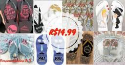 Chinelo personalizado casamento R$14,99