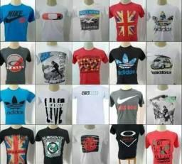 Camisetas Camisas Masculinas Estampadas No Atacado