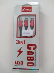 Cabo 3x1 para Smartphone