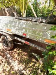 Canoa de aluminio bico quadrado 5 mts marca levefort