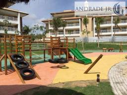 Apartamento no condomínio clube Golfville, na beira mar da praia do Beach Park